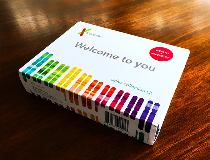 23 and me DNA test kit